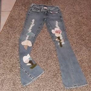 True Religion Ashbury Patchwork Jeans Size 25